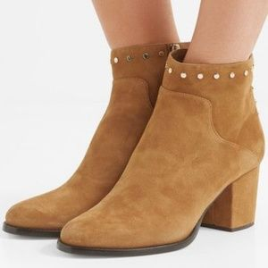 Jimmy Choo Melvin 65 Ankle Suede Studded Booties